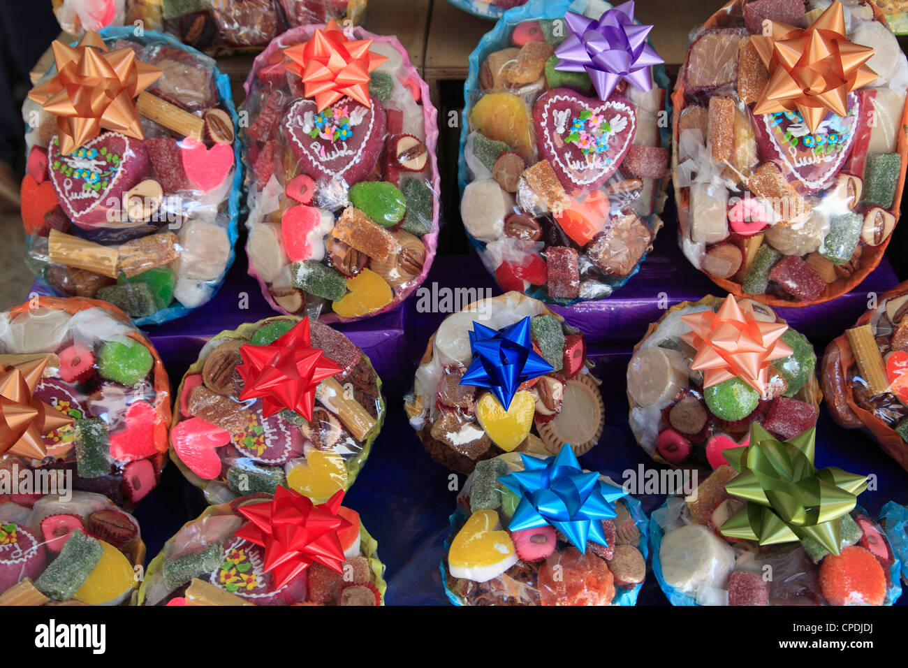 Traditional Mexican sweets and candies, Puebla, Historic Center, Puebla State, Mexico, North America - Stock Image