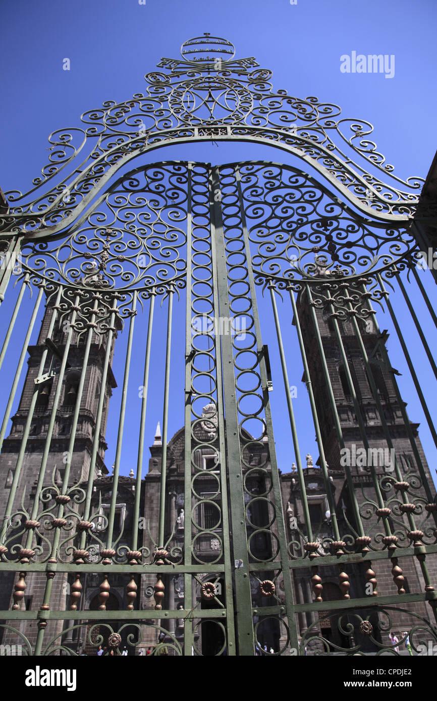 Cathedral, Puebla, Historic Center, UNESCO World Heritage Site, Puebla State, Mexico, North America - Stock Image