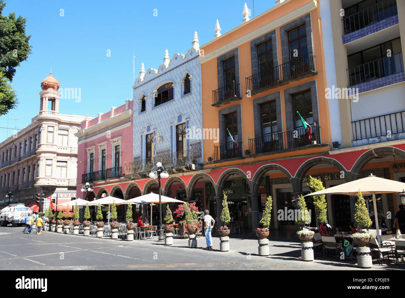 Puebla, Historic Center, UNESCO World Heritage Site, Puebla State, Mexico, North America - Stock Image