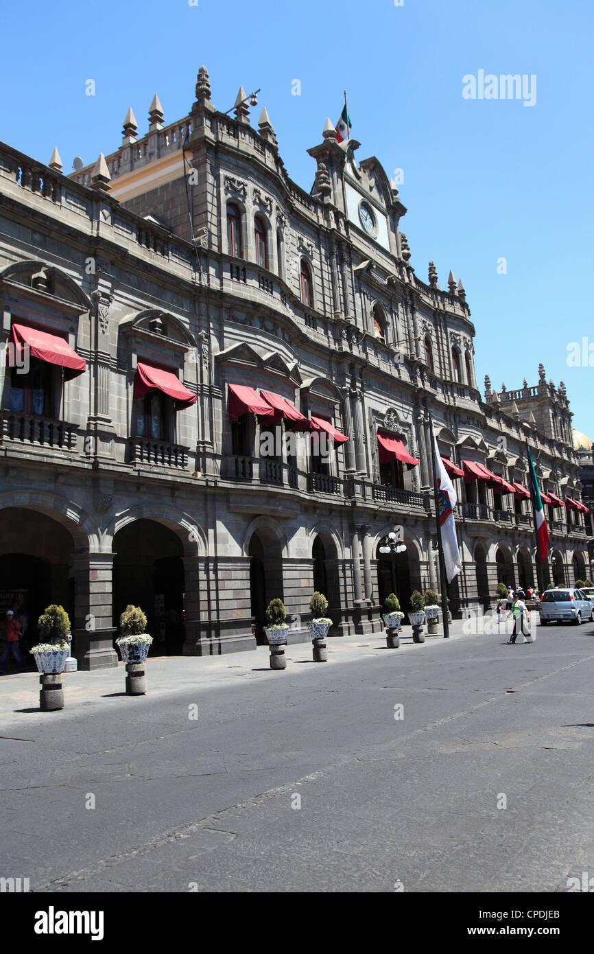 Palacio Municipal, Town Hall, Puebla, Historic Center, UNESCO World Heritage Site, Puebla State, Mexico, North America - Stock Image