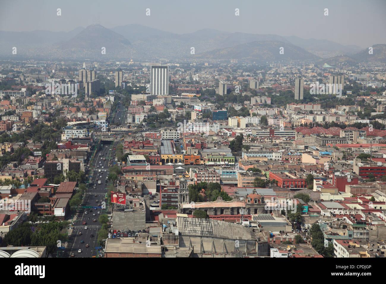 View over Mexico City Center, Mexico City, Mexico, North America - Stock Image