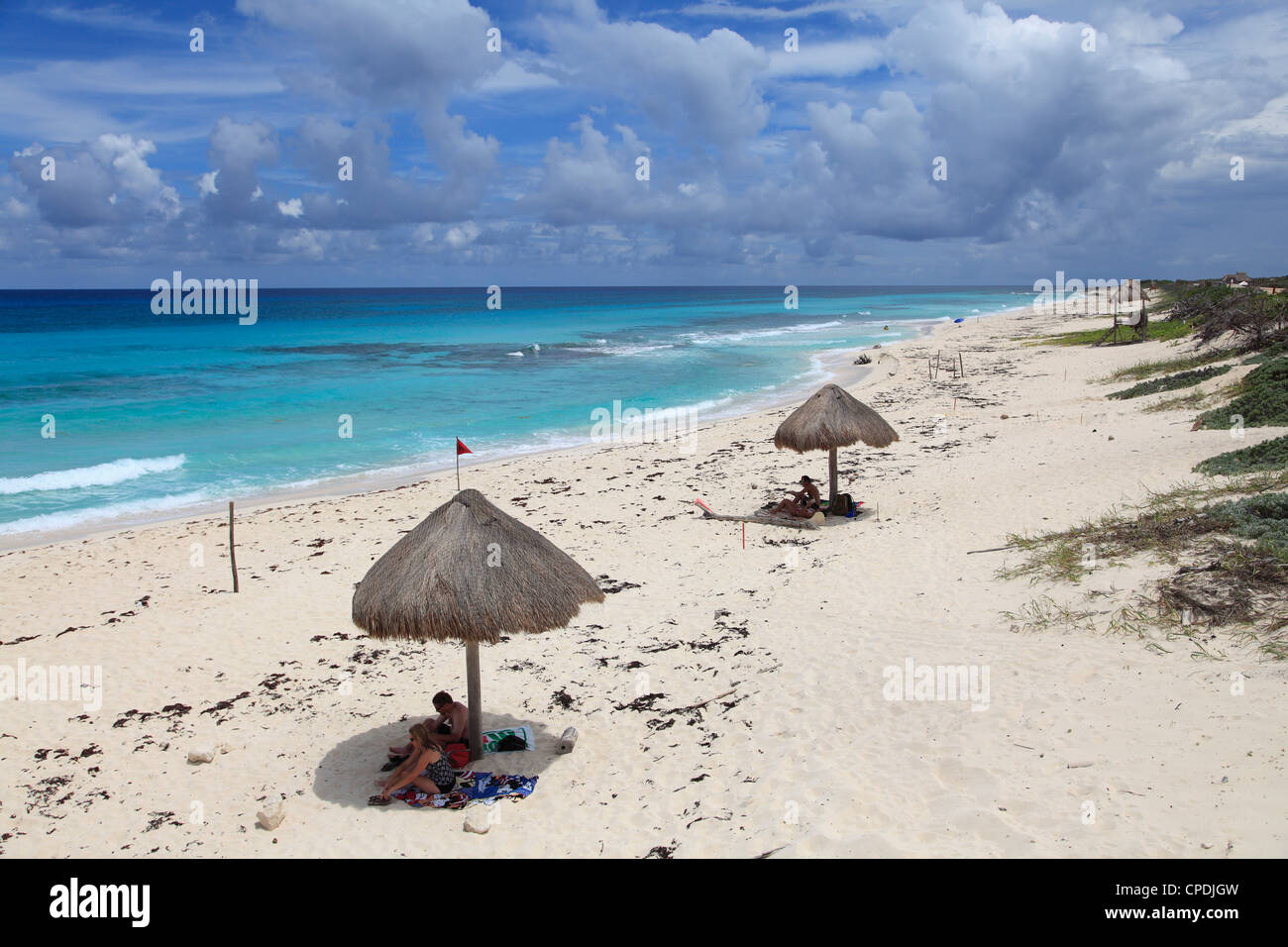 public beach on the east coast cozumel island isla de cozumel