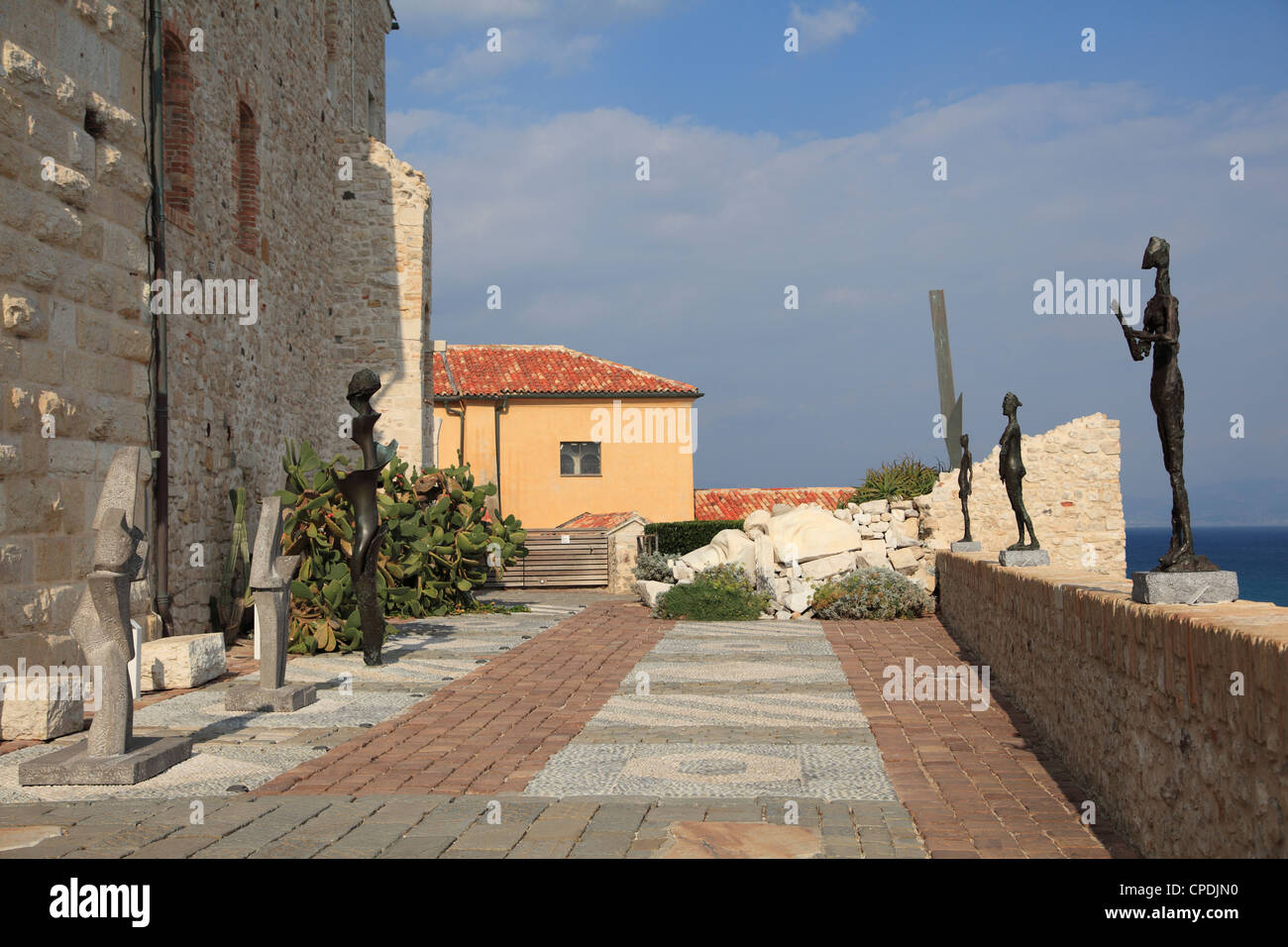 Picasso Museum, Old Town, Vieil Antibes, Antibes, Cote d'Azur, French Riviera, Mediterranean, Provence, France, - Stock Image
