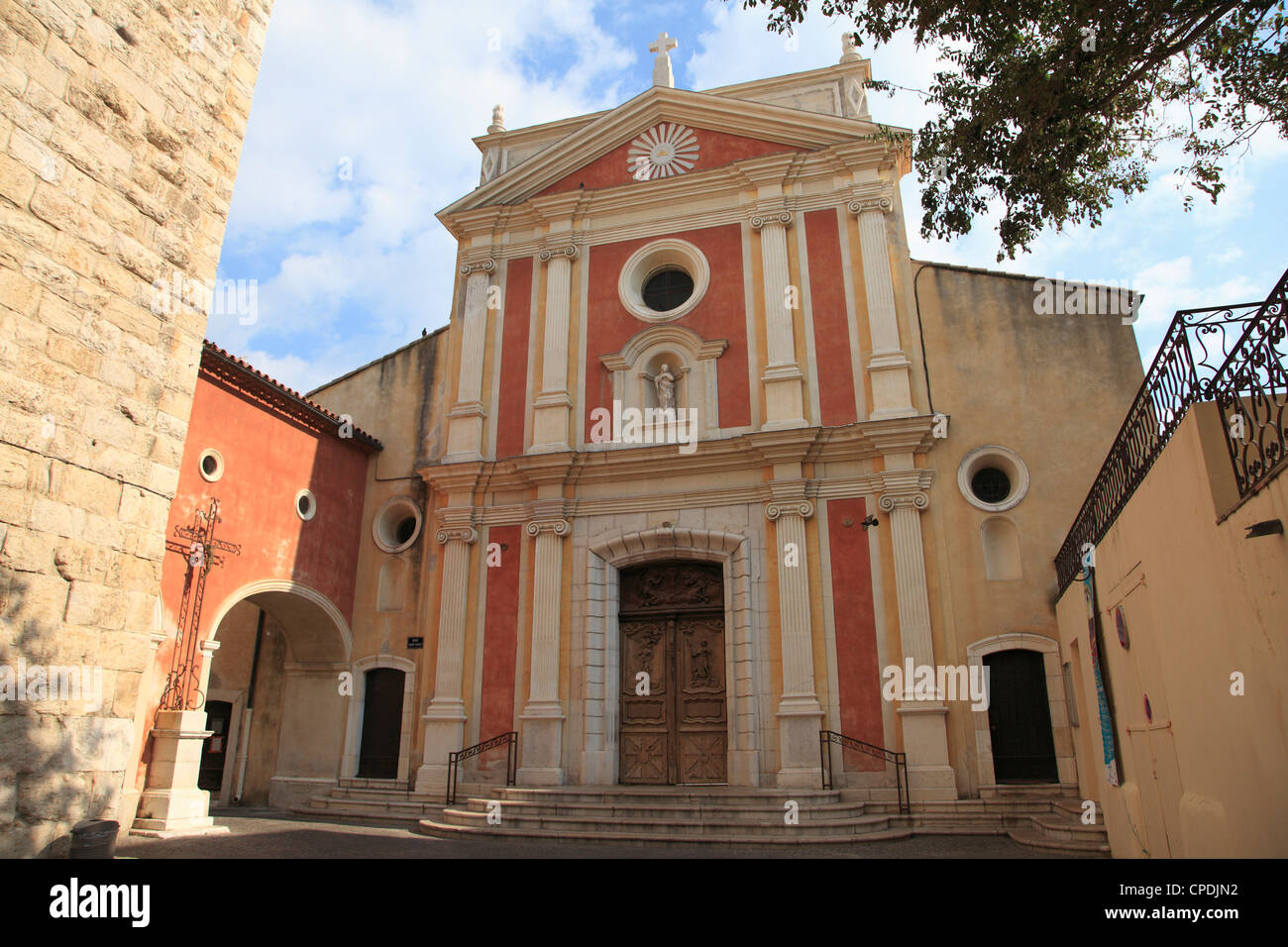 Church of the Immaculate Conception, Old Town, Vieil Antibes, Antibes, Cote d'Azur, French Riviera, Provence, - Stock Image