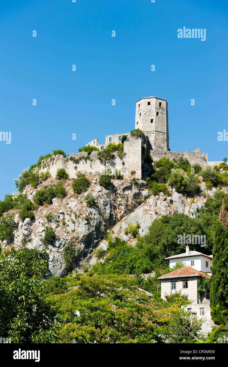 Fortifications, Pocitelj, Capljina municipality, Bosnia and Herzegovina, Europe - Stock Image