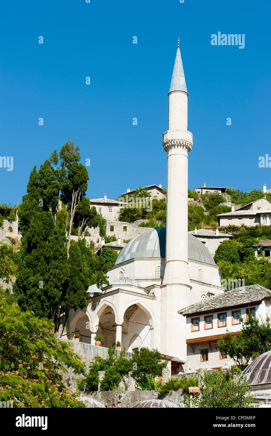 Podgrad mosque, Pocitelj, Capljina municipality, Bosnia and Herzegovina, Europe - Stock Image