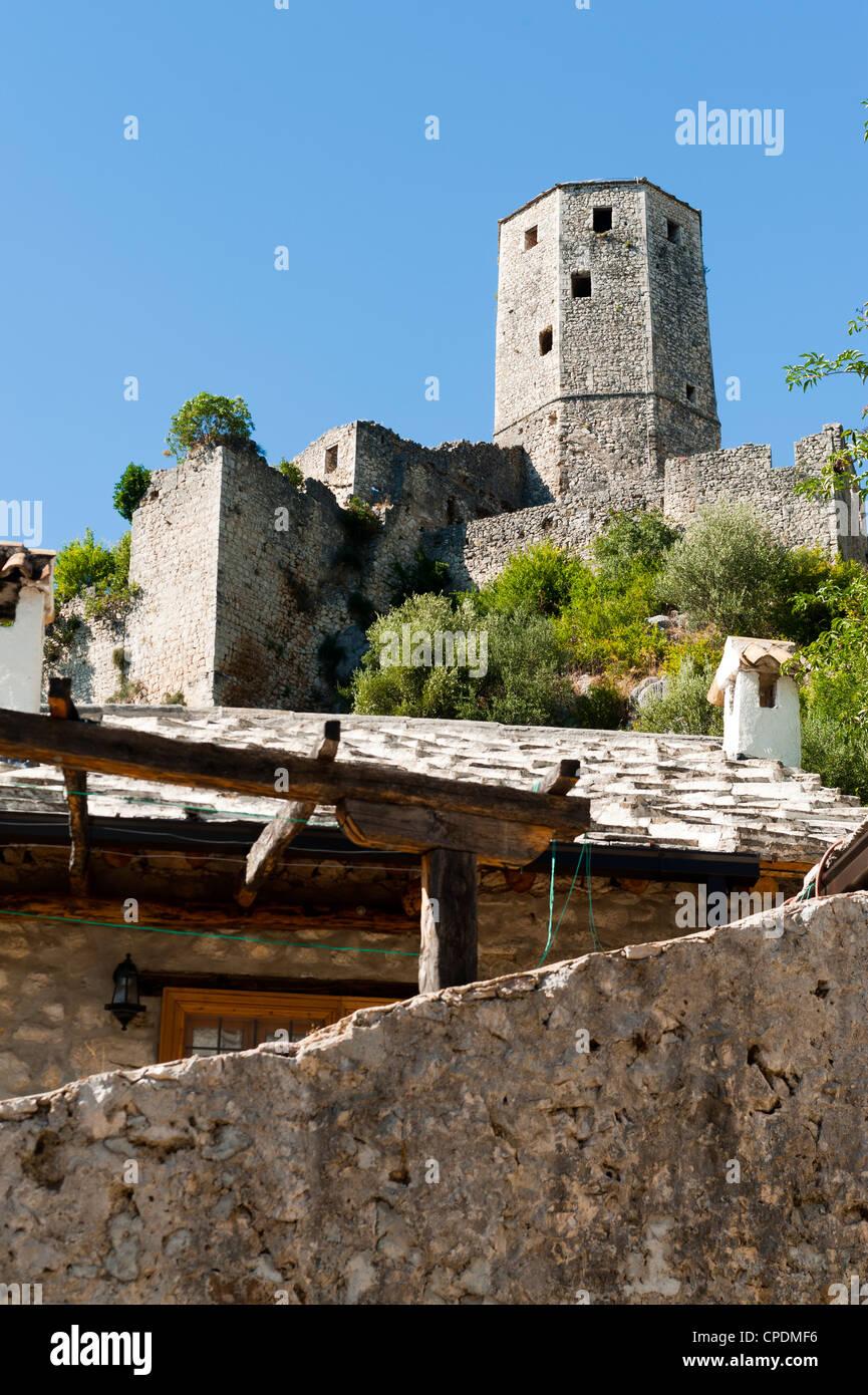 Pocitelj, Capljina municipality, Bosnia and Herzegovina, Europe - Stock Image