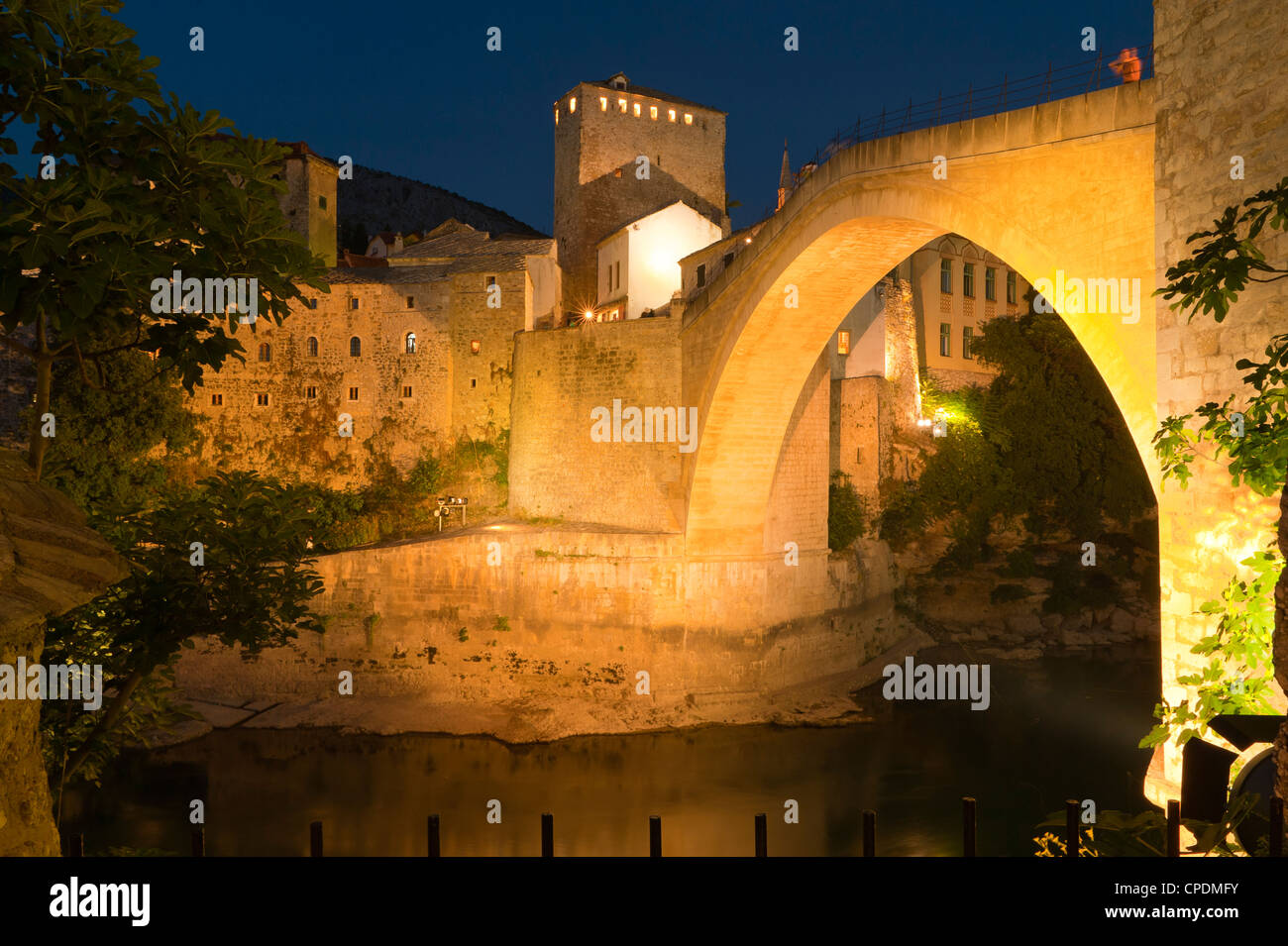 Stari Most (Old Bridge), UNESCO World Heritage Site, Mostar, municipality of Mostar, Bosnia and Herzegovina, Europe - Stock Image