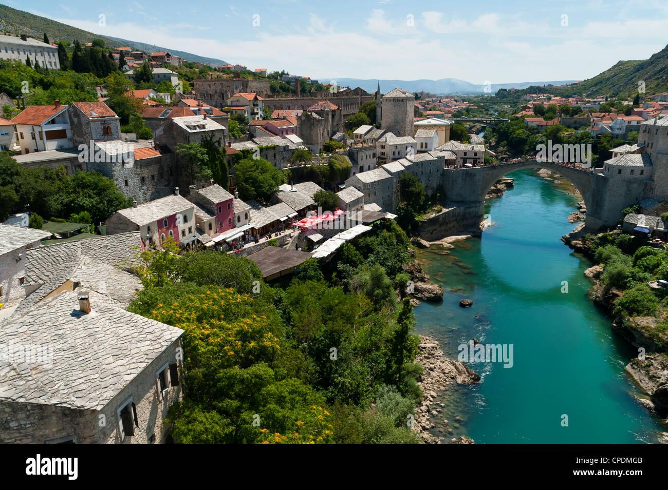Mostar, UNESCO World Heritage Site, municipality of Mostar, Bosnia and Herzegovina, Europe - Stock Image