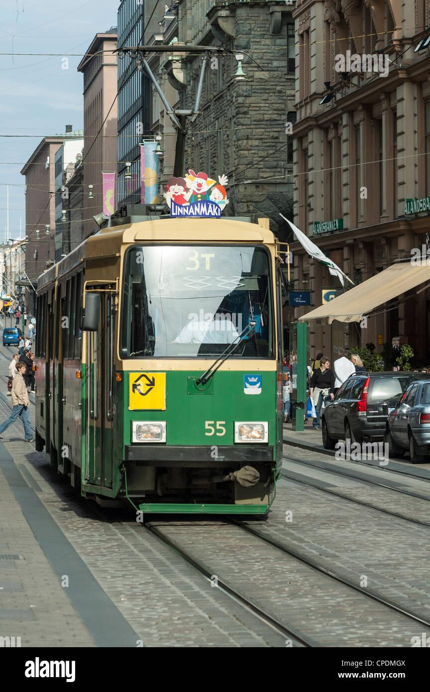 Tram in Helsinki, Finland, Scandinavia, Europe - Stock Image
