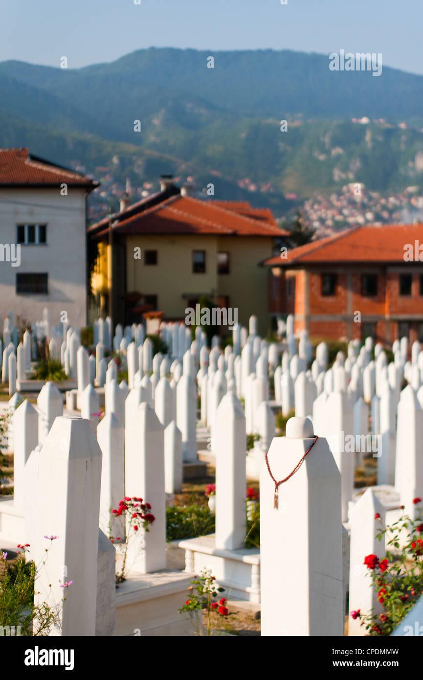 Kovaci War Cemetery, Sarajevo, Bosnia and Herzegovina, Europe - Stock Image