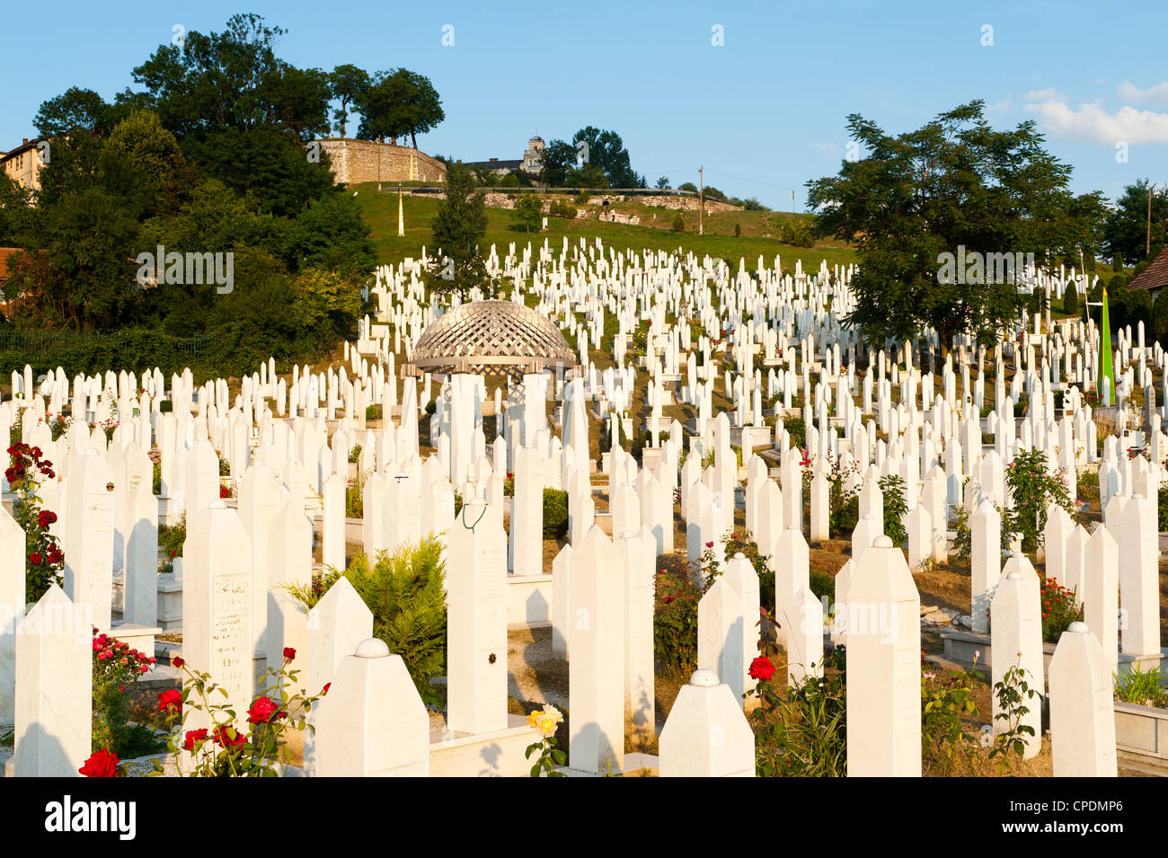 Kovaci War Cemetery, Alija Izetbegovic, Sarajevo, Bosnia and Herzegovina - Stock Image