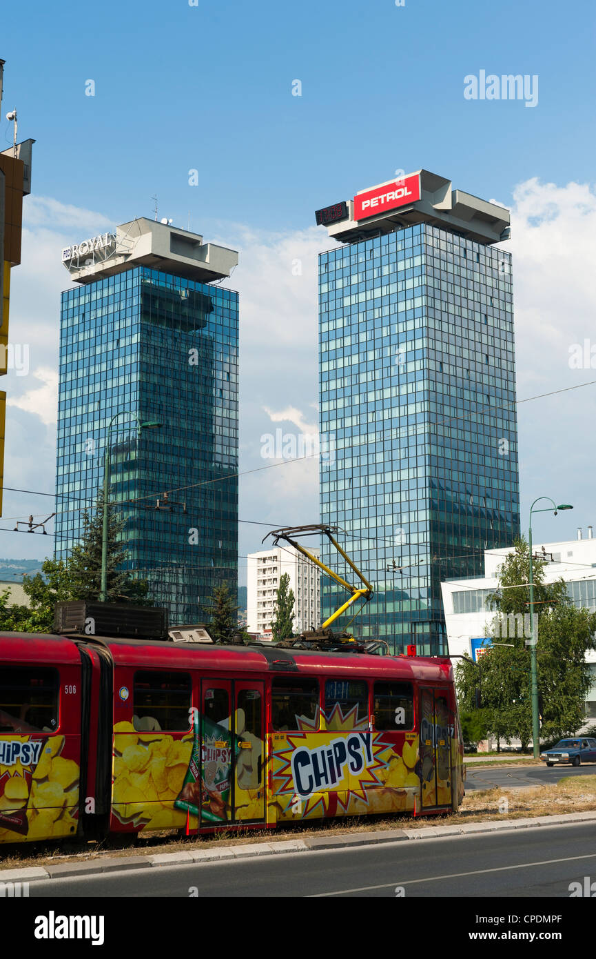Twin Towers, Sarajevo, Bosnia and Herzegovina, Europe - Stock Image