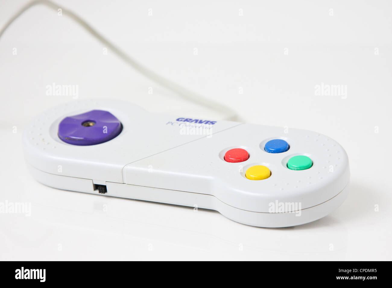 video game controller gamepad gaming - Stock Image