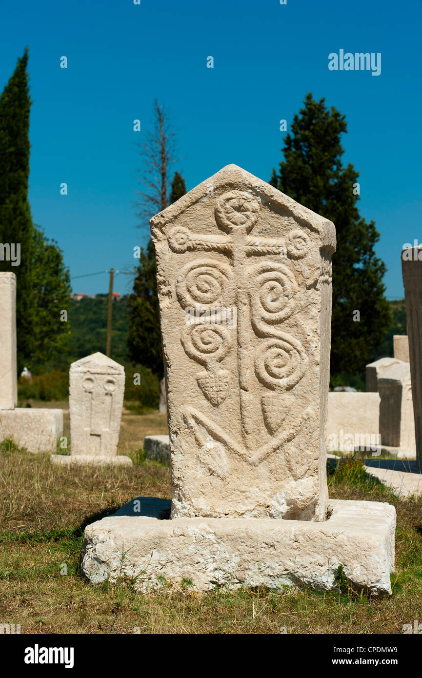 Stecak necropolis of Radimlja, located near Stolac, Bosnia and Herzegovina, Europe - Stock Image