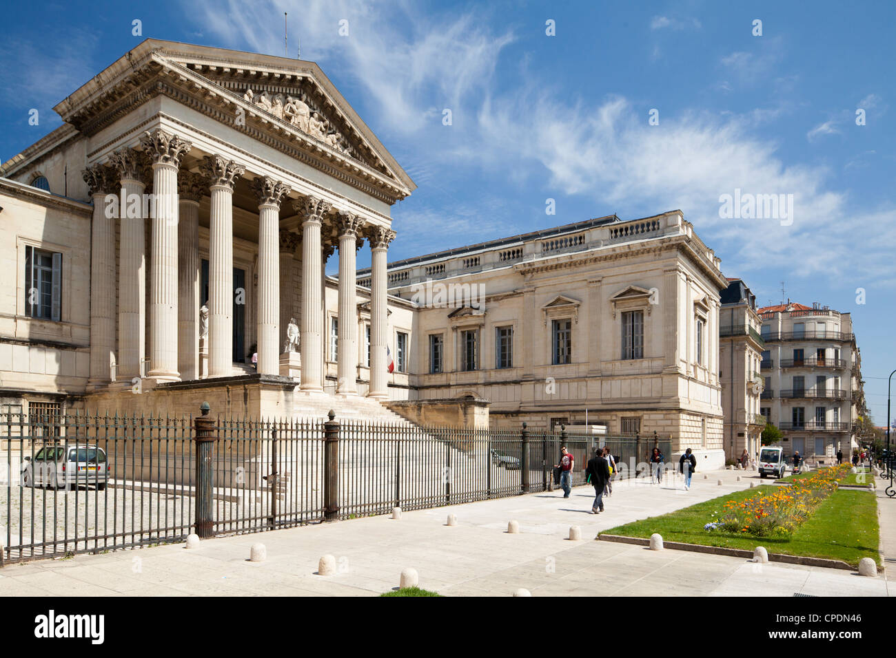 The Neoclassical Palais de Justice, Rue Foch, Montpellier, Languedoc-Roussillon, France, Europe Stock Photo