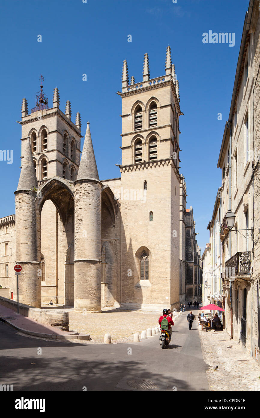 A view of Montpellier Cathedral, Montpellier, Languedoc-Roussillon, France, Europe Stock Photo