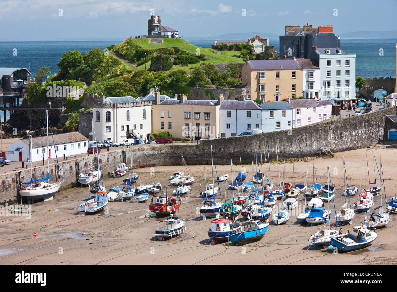 Tenby Harbour, Tenby, Pembrokeshire, Wales, United Kingdom, Europe - Stock Image
