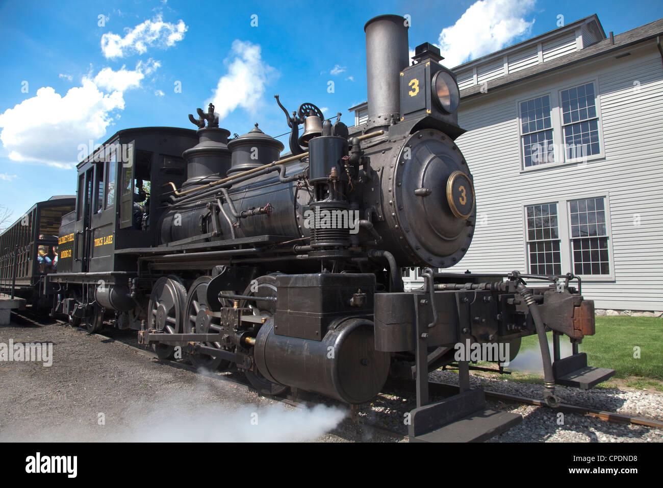 Steam locomotive at Greenfield Village, Dearborn, Michigan - Stock Image