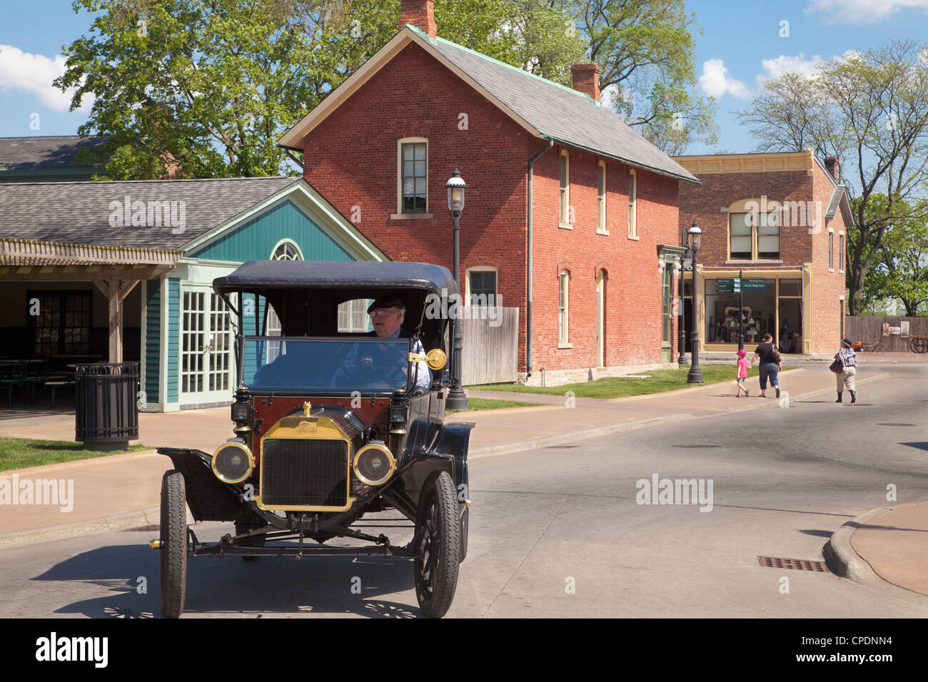 Ford Model T at Greenfield Village, Dearborn, Michigan, - Stock Image
