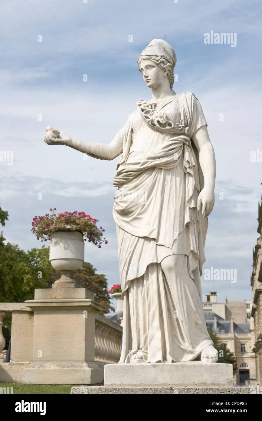 Minerva statue, Paris [...] - Stock Image