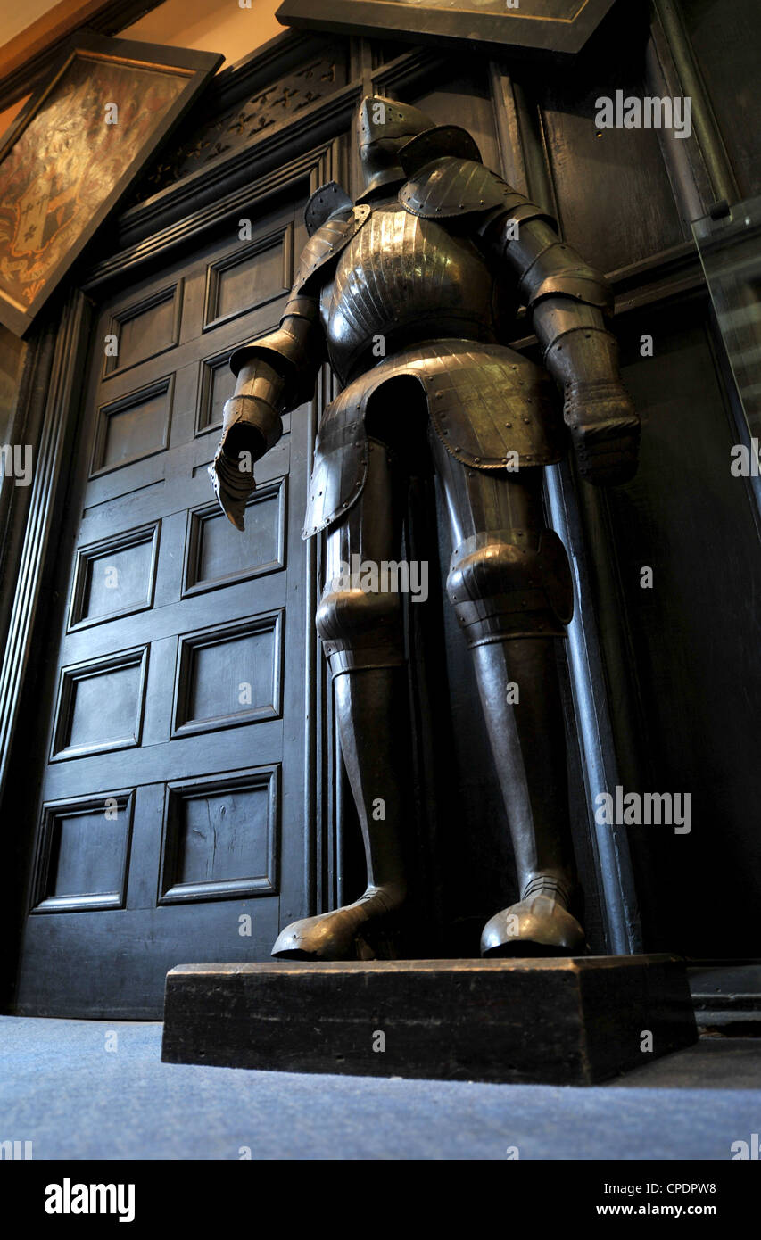 medieval suit of armor, British low angle - Stock Image