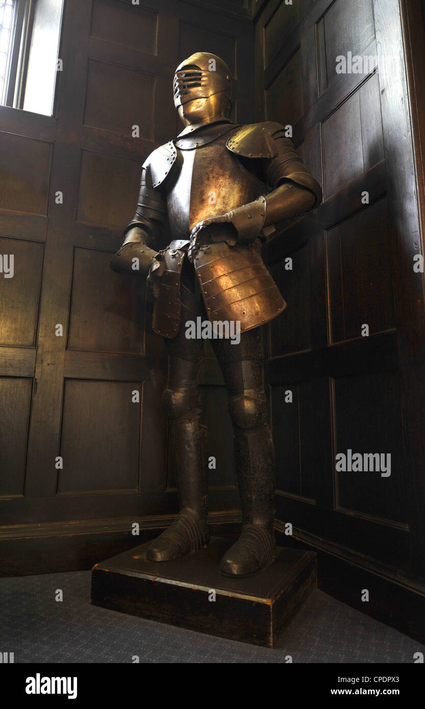 medieval suit of armor, British - Stock Image