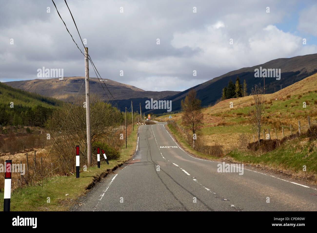a82 trunk road through the scottish highlands Scotland UK - Stock Image