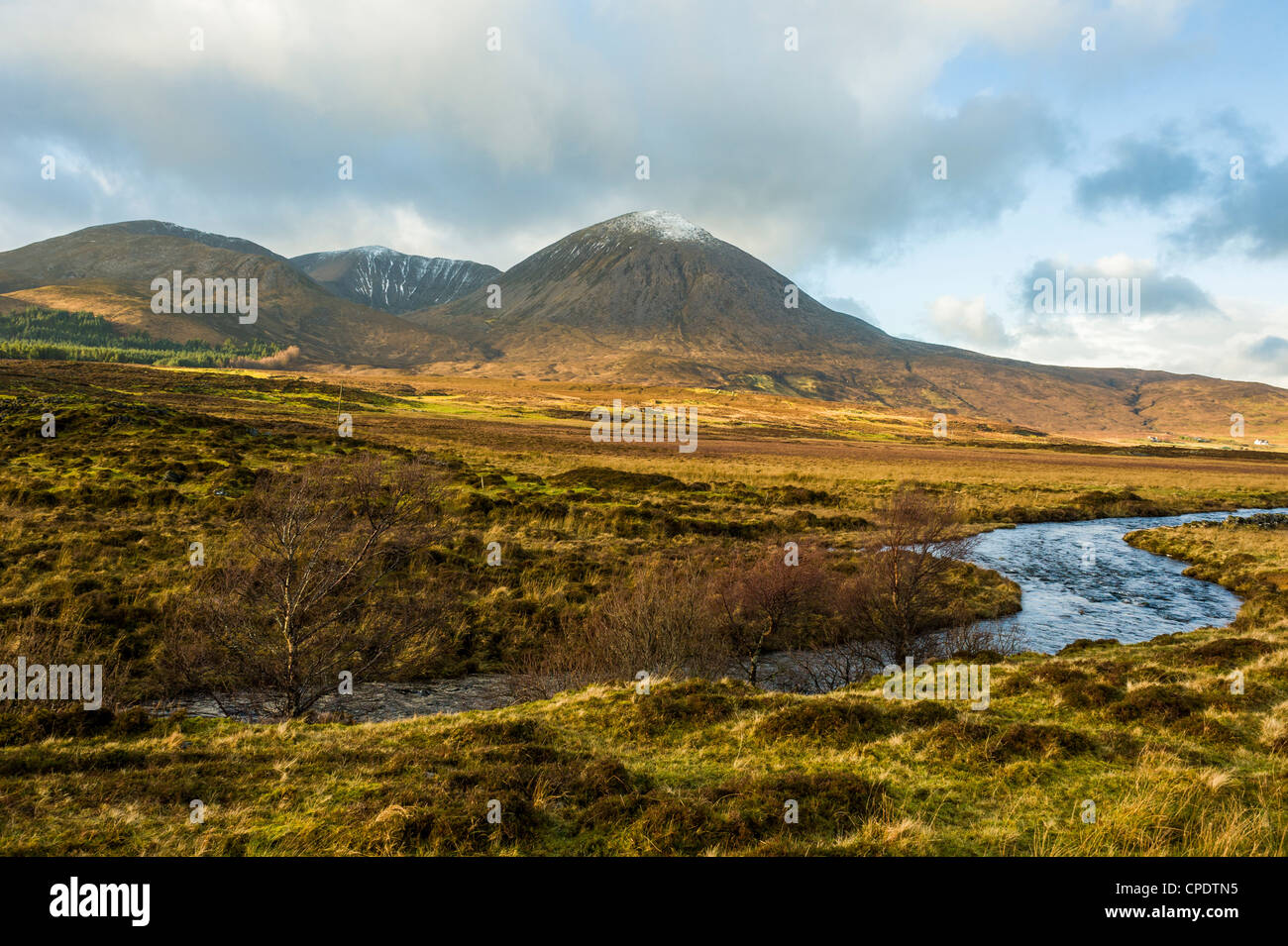 Mountainous view, Road to Elgol, Isle of Skye, Scotland, UK - Stock Image