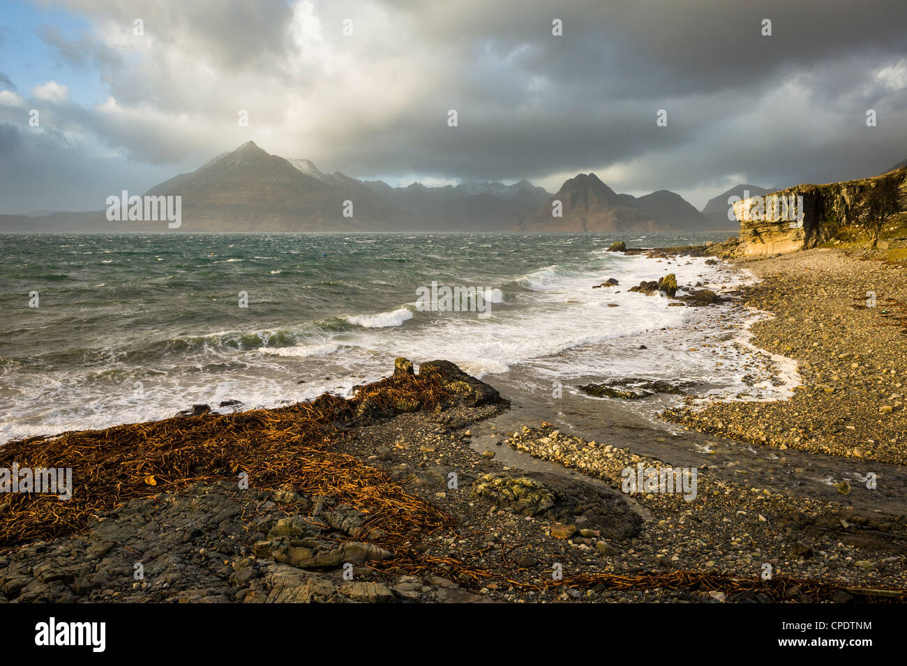 Elgol and the Cuillin, Isle of Skye, Inner Hebrides, Highlands, Scotland, UK - Stock Image