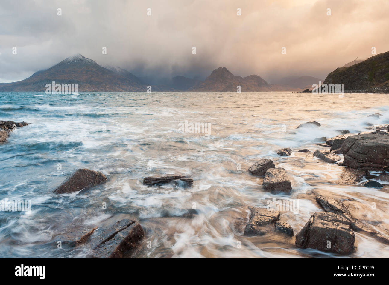 Elgol and the Cuillin at sunrise, Isle of Skye, Inner Hebrides, Highlands, Scotland, UK - Stock Image