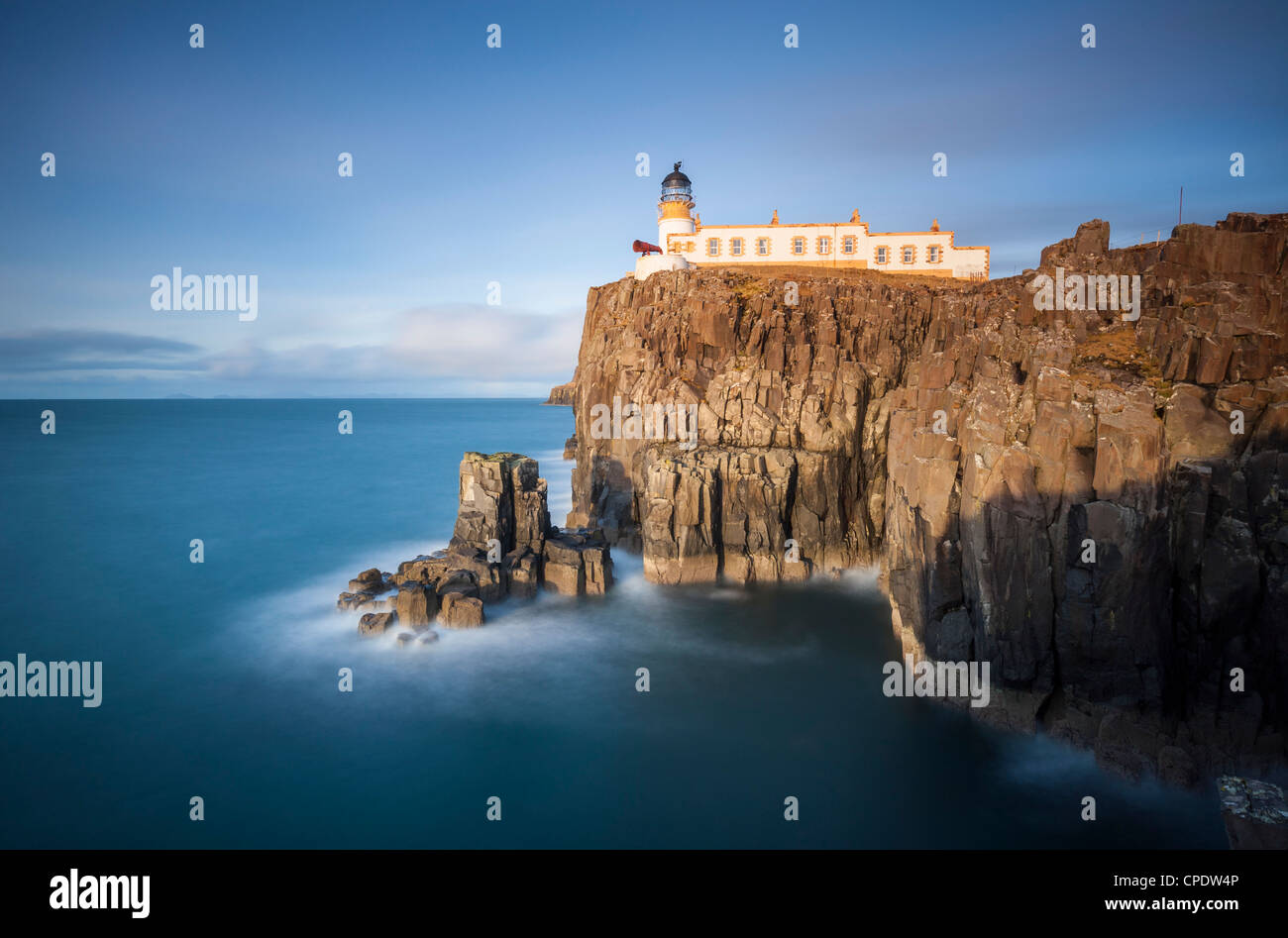 Neist Point lighthouse, Isle of Skye, Scotland, UK Stock Photo