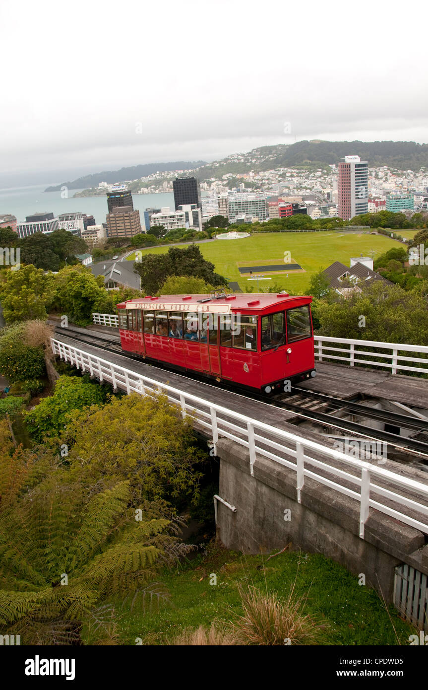 New Zealand, North Island, Wellington, Cable Car. - Stock Image