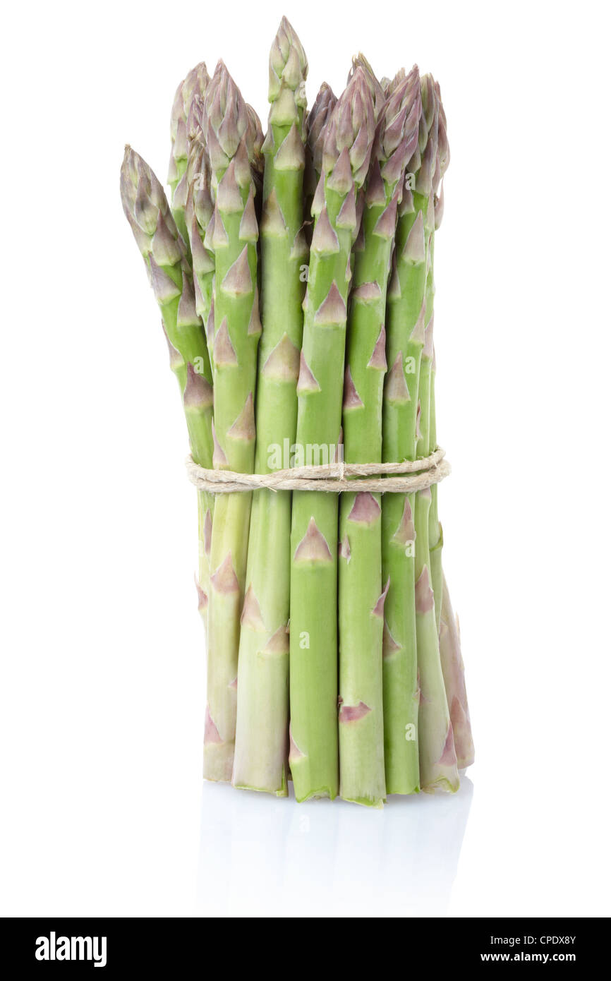 Asparagus bunch - Stock Image