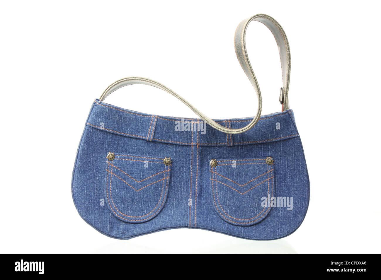 Lady's Denim Handbag - Stock Image