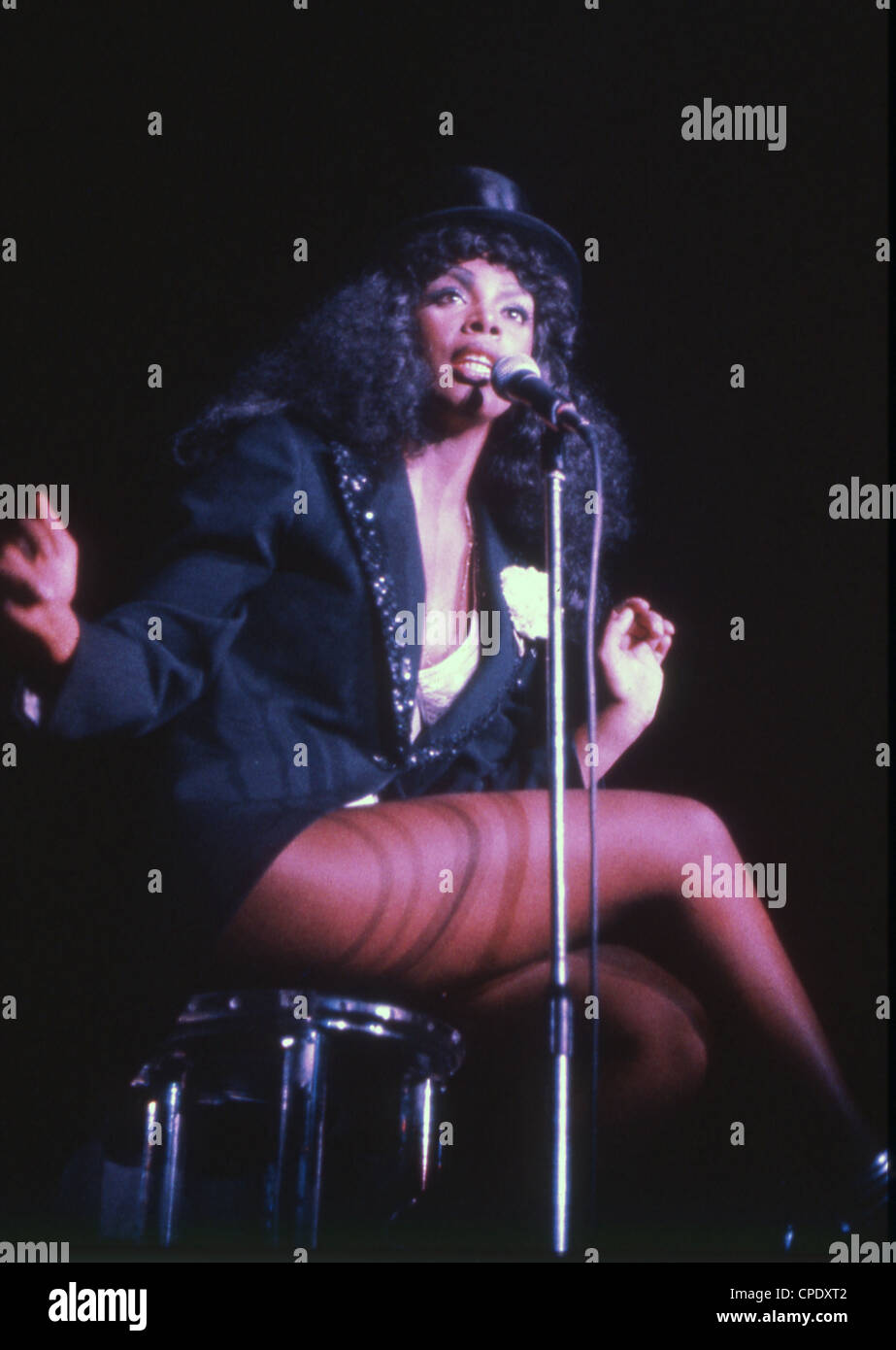 DONNA SUMMER BLUE PRINT POSTER SEVENTIES DISCO MUSIC