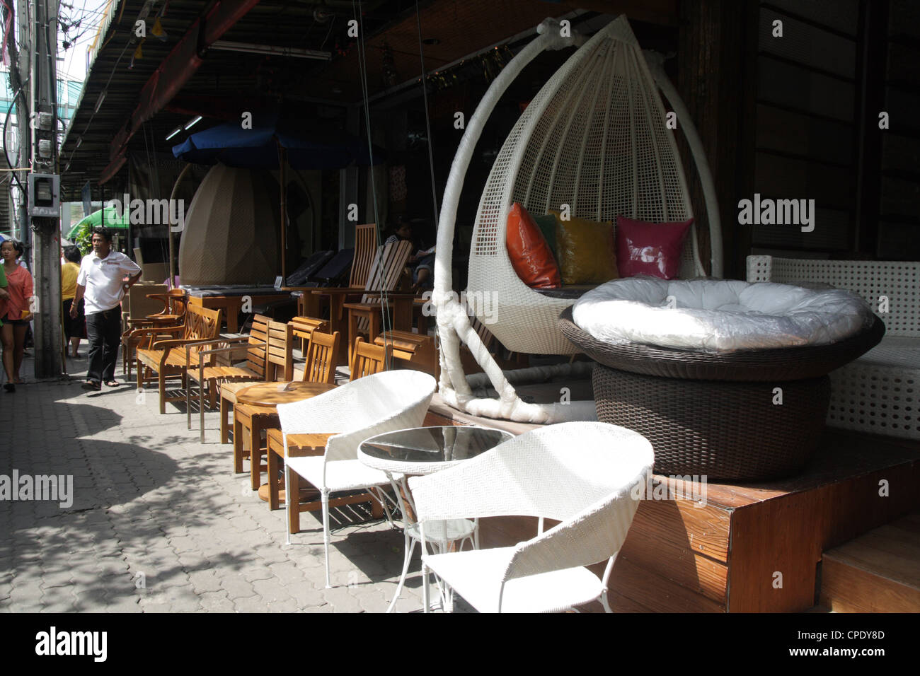 Furniture and home decorations shop in chatuchak weekend market bangkok