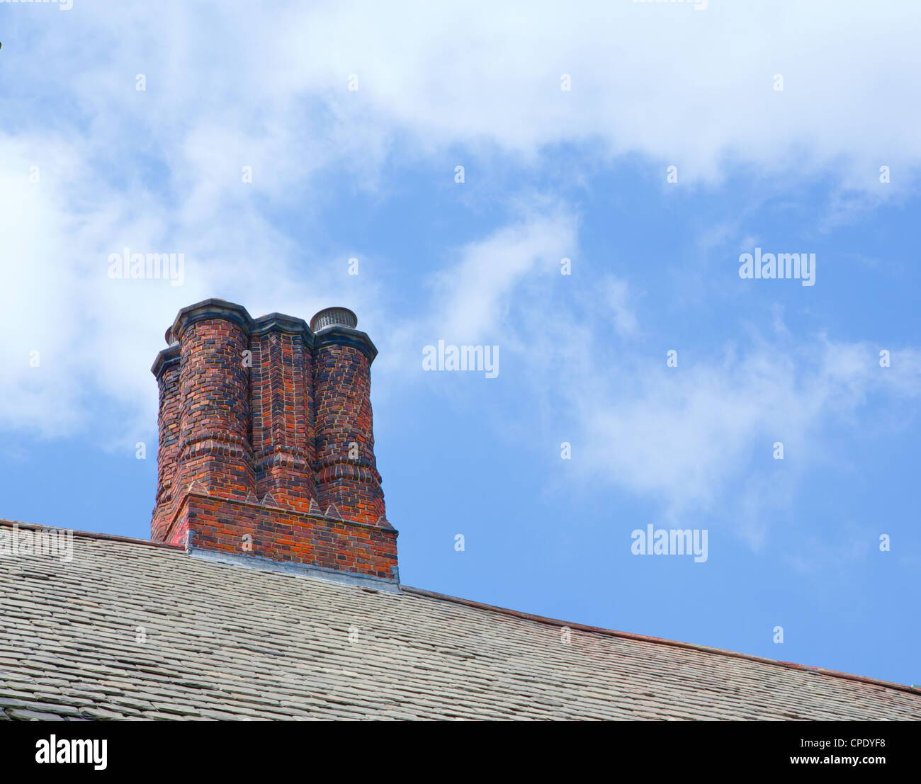 Chimney Hill Apartments: Old House Roof Chimney Against Stock Photos & Old House