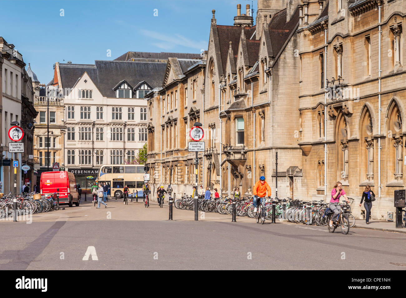 Broad Street, Oxford - on the right is Balliol College. - Stock Image