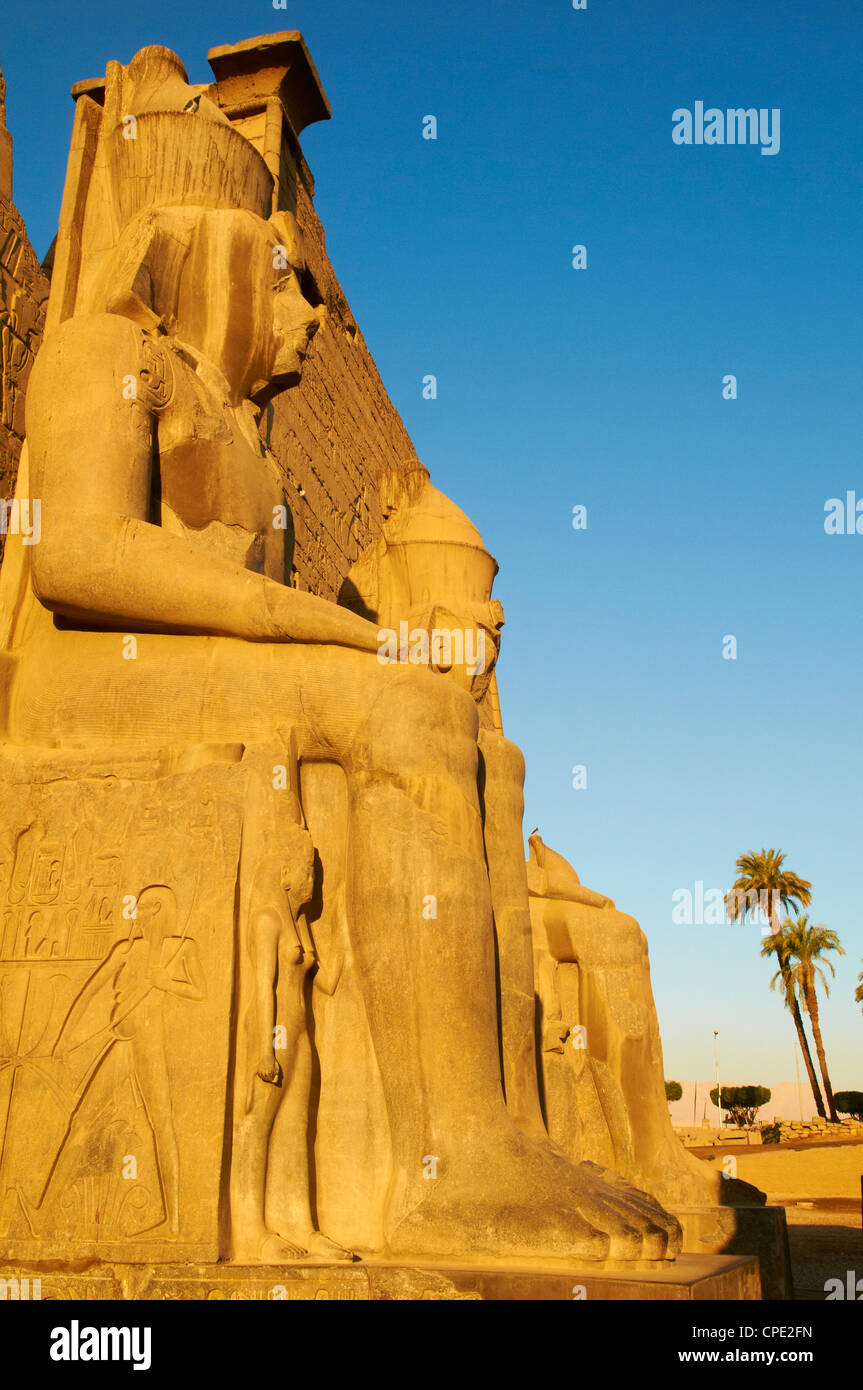 Temple of Luxor, Thebes, UNESCO World Heritage Site, Egypt, North Africa, Africa - Stock Image