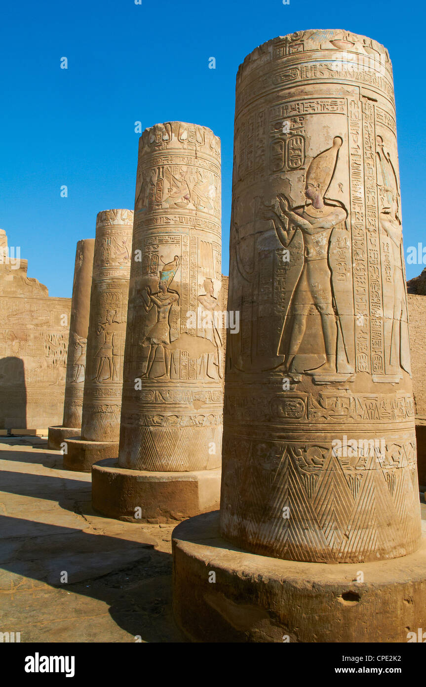Temple of Sobek and Haroeris, Kom Ombo, Egypt, North Africa, Africa Stock Photo