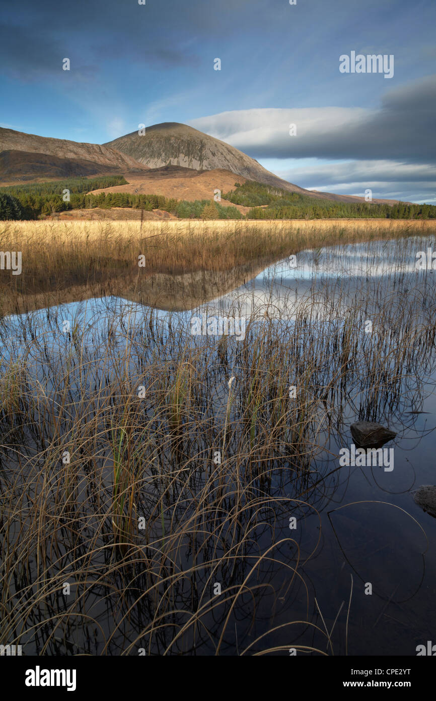 A beautiful autumn morning showing the calm waters of Loch Cill Chriosd, Isle of Skye, Inner Hebrides, Scotland, - Stock Image