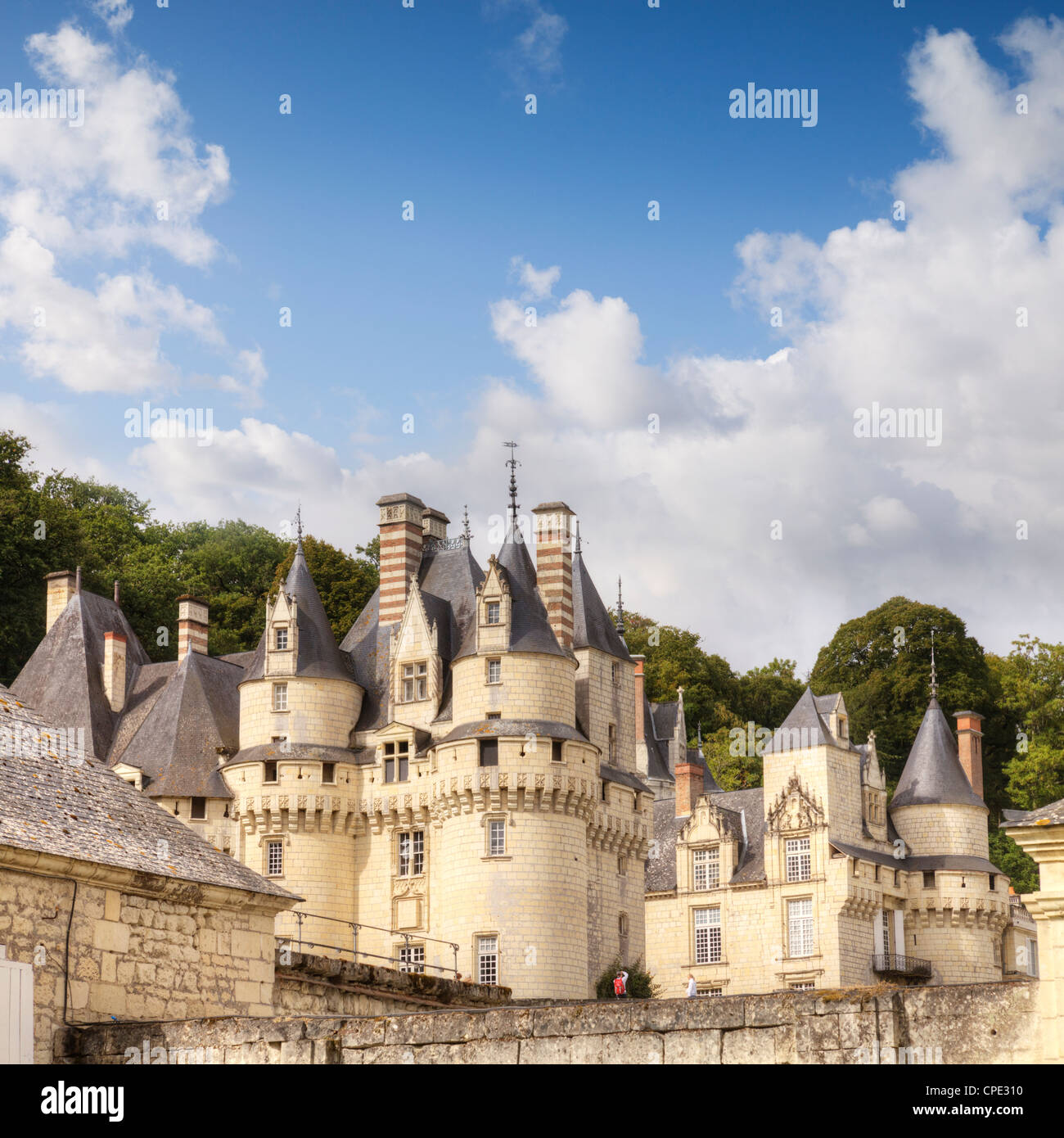 Chateau Usse, Rigny-Usse, Loire Valley, France. - Stock Image
