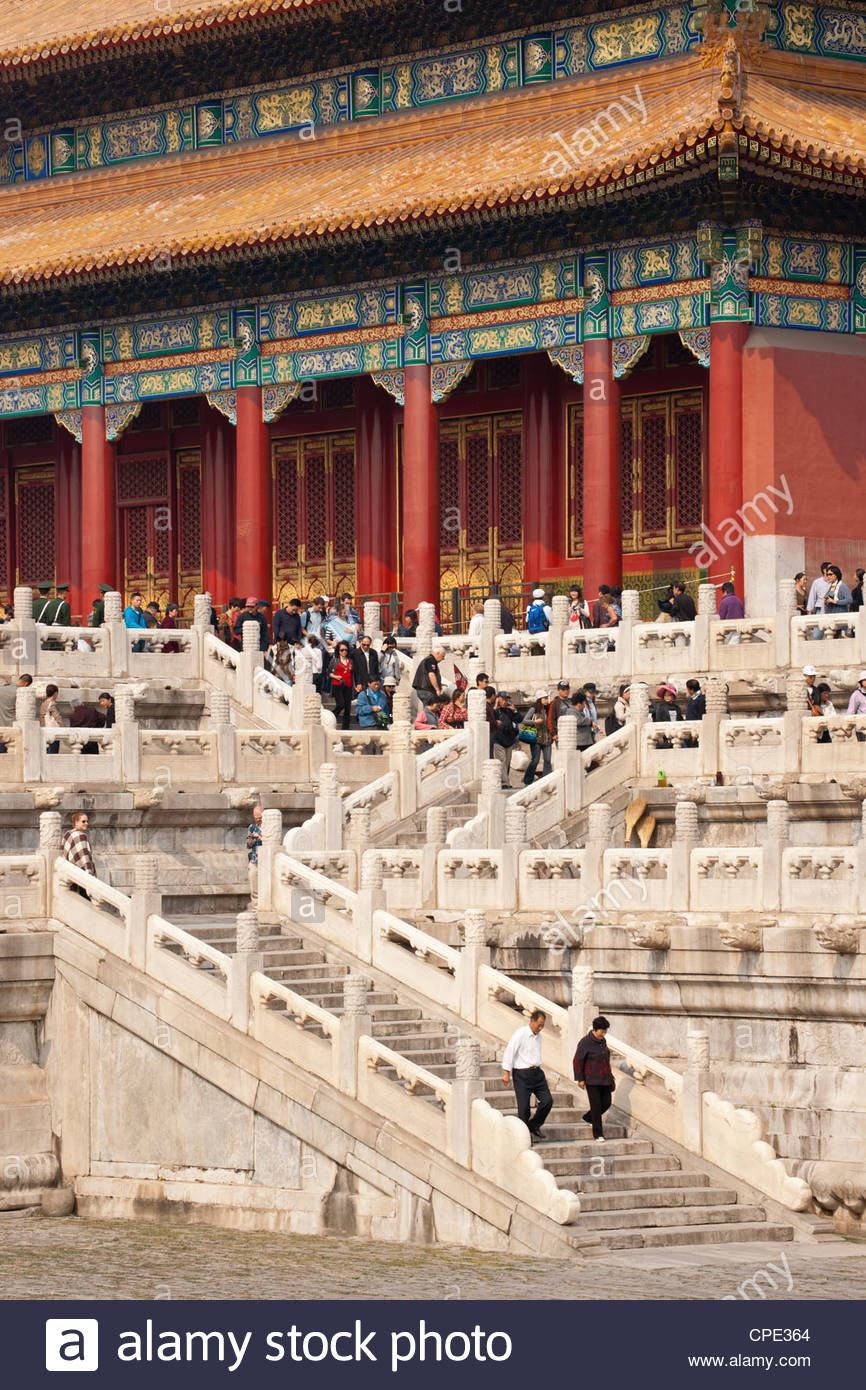 Gate of Heavenly Purity, UNESCO World Heritage Site, Forbidden City, Beijing, China, Asia - Stock Image