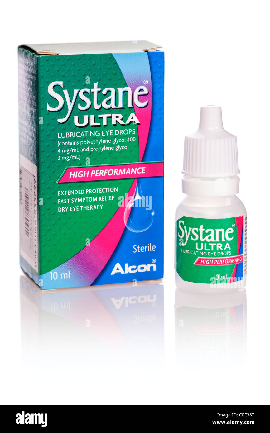 Systane Ultra Lubricating Eye Drops - Stock Image