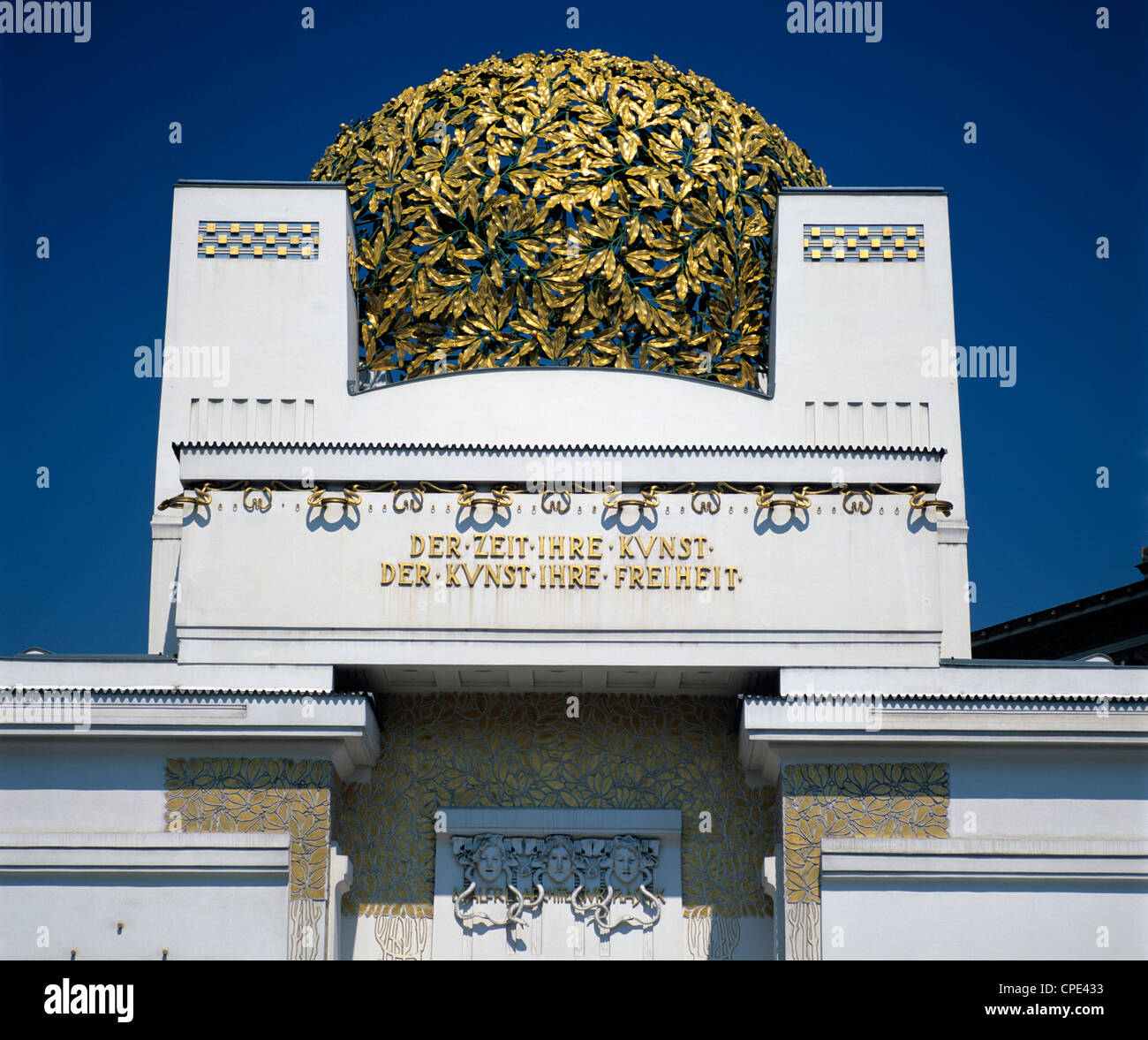 Secession Building, Art Gallery with Golden Cabbage on top, Vienna, Austria, Europe Stock Photo