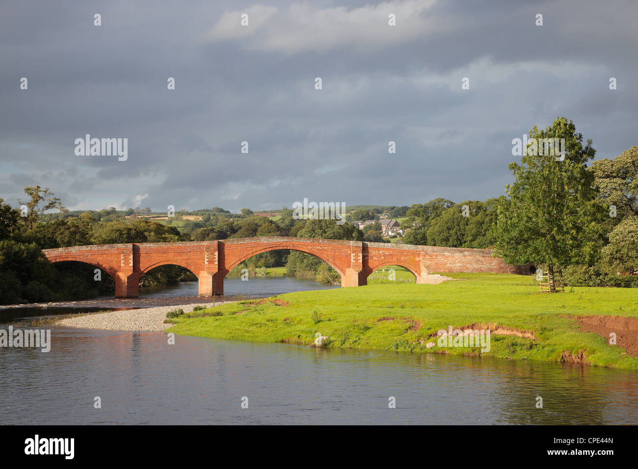 The Eden Bridge, Lazonby, Eden Valley Cumbria England UK - Stock Image