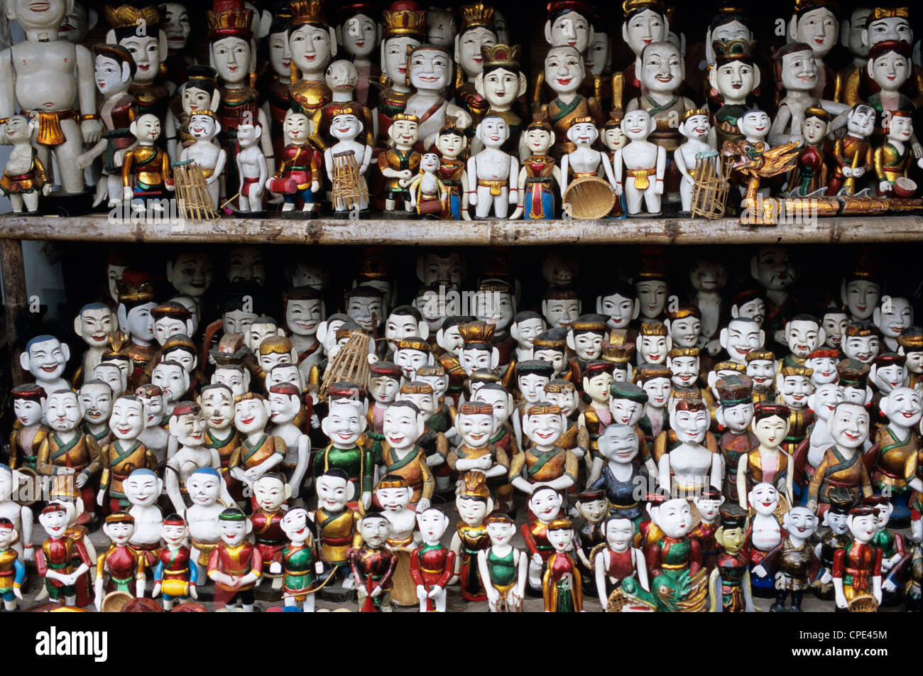 Collection of water puppets, Hanoi, Vietnam, Indochina, Southeast Asia, Asia - Stock Image