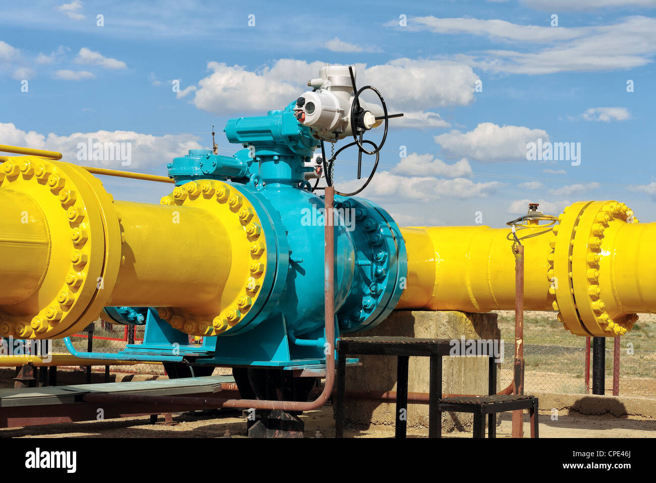 distribution, energy, fossil, fuel, gas, industry, metal, mining, natural, petrochemical, pipeline, pipe, power, - Stock Image