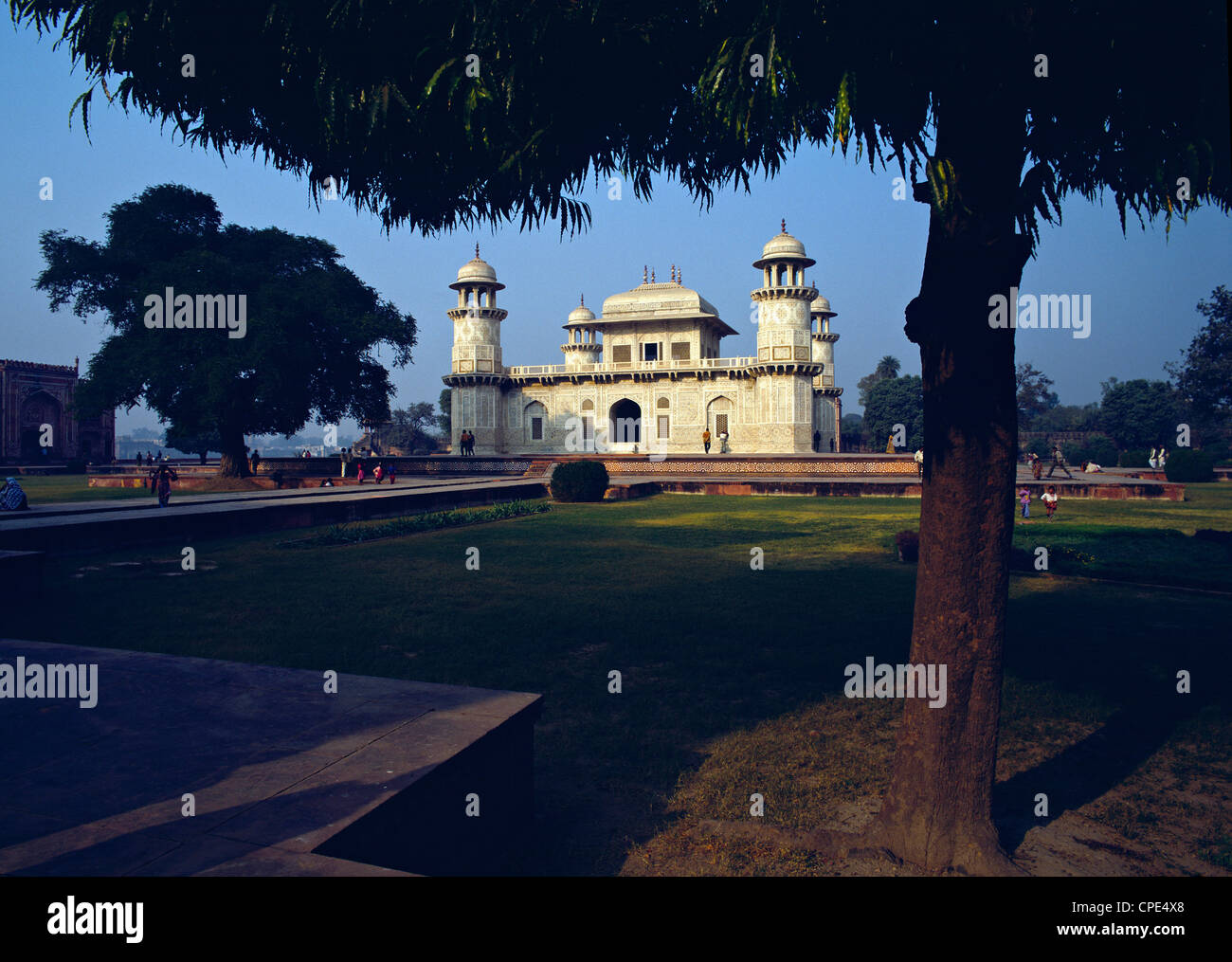 The Itmad ud Daulah or Little Taj - the tomb of Mirza Ghiyas Beg, Agra, northern India. Stock Photo